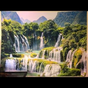 Waterfall wall tapestry. NEW